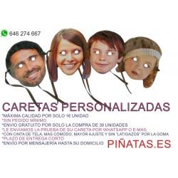 HACEMOS TUS CARETAS PERSONALIZADAS