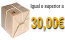Transporte gratis en pedidos superior a 30,00€