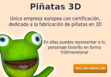 Representa a tu personaje favorito en una piñata con forma 3D
